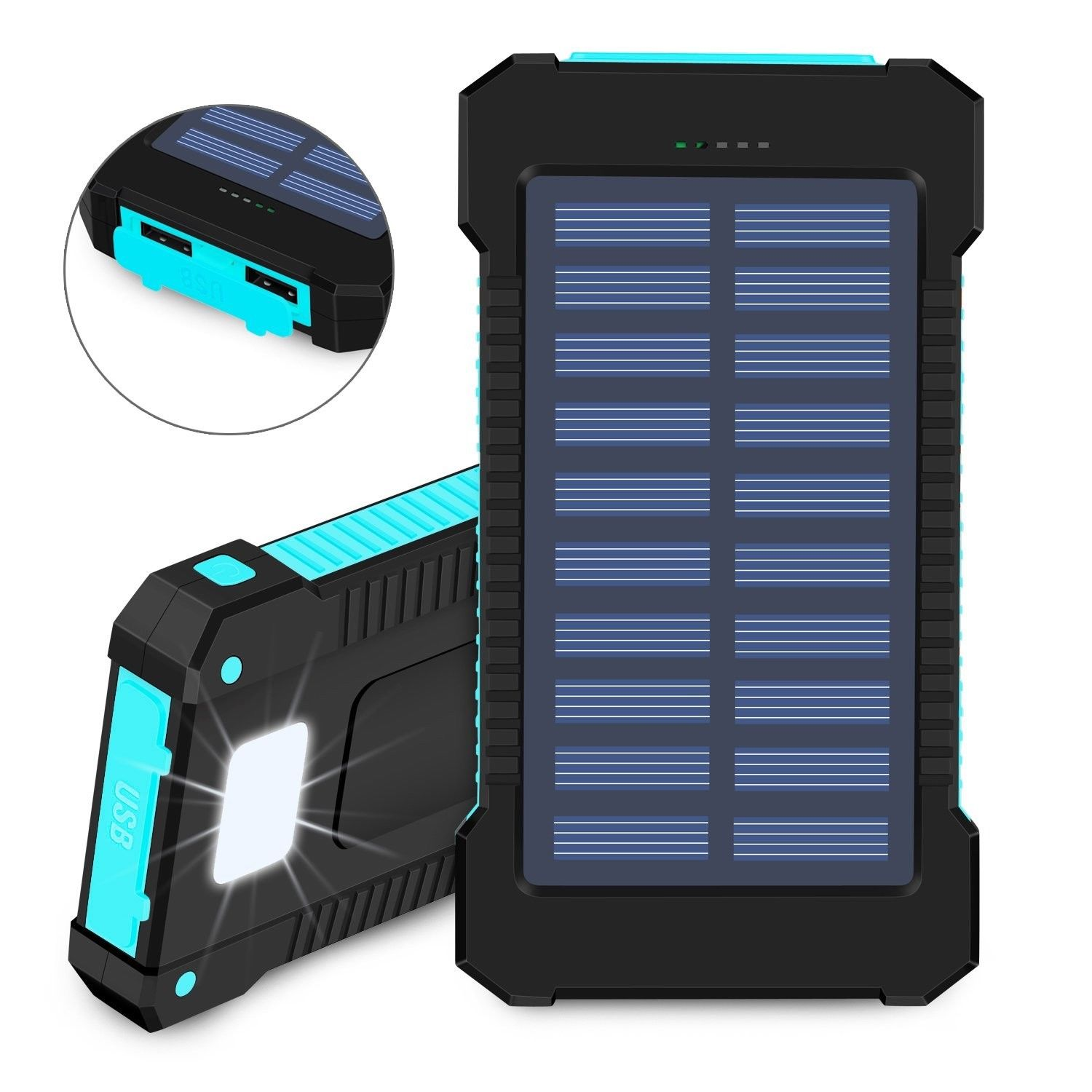info for e2b00 8ab43 Solar Power Bank-10,000mah Phone Charger- rubber waterproof case